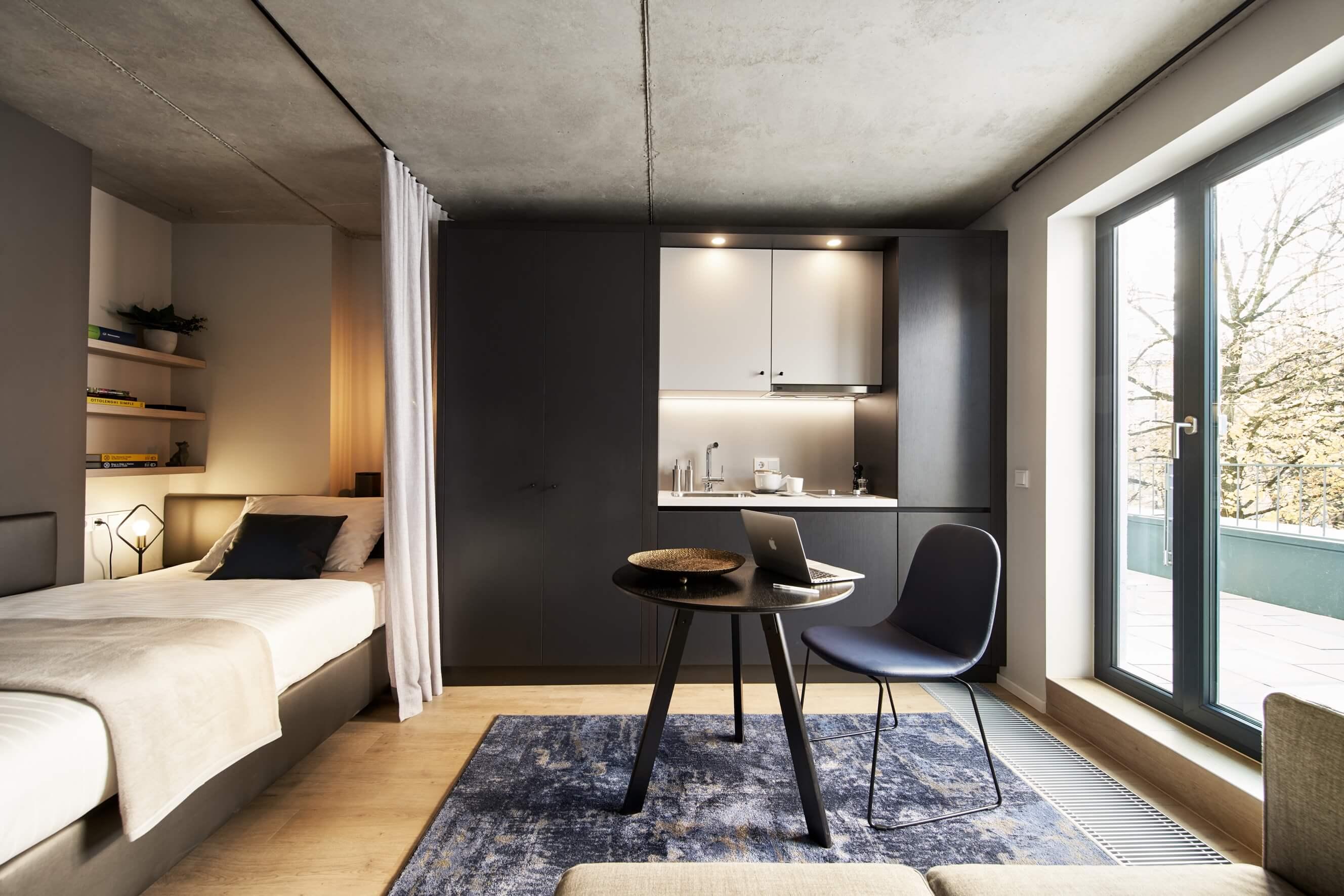 Vollausgestattetes Serviced Apartment in München mit Kitchenette